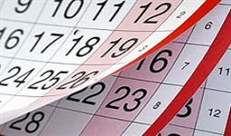 Calendário próximos dias